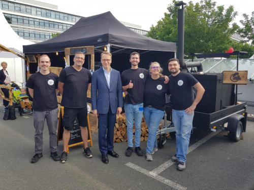Auch der Präsident dem Deutschen Bundesbank haben unsere Pizzen sehr gut geschmeckt